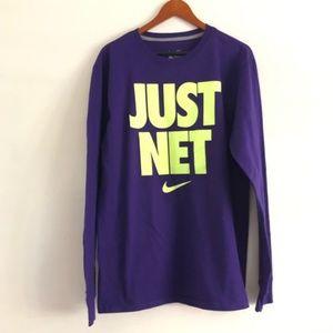 nike Purple Neon Just Net Long Sleeve Shirt nwt